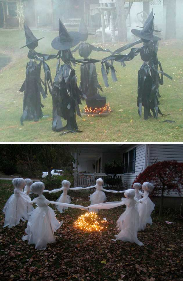 Trash Bag Witches and The Ring of White Garbage Bag Ghosts.