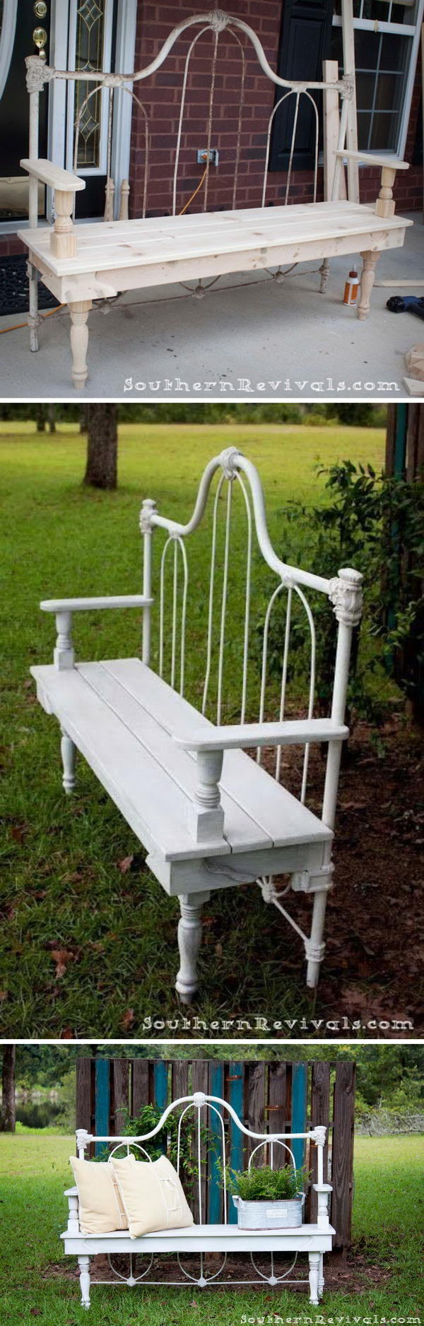 40 Creative Outdoor Bench Diy Ideas And Tutorials 2017