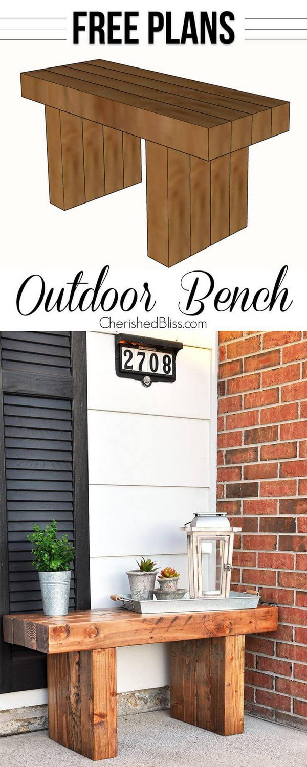 Classic DIY Outdoor Bench.
