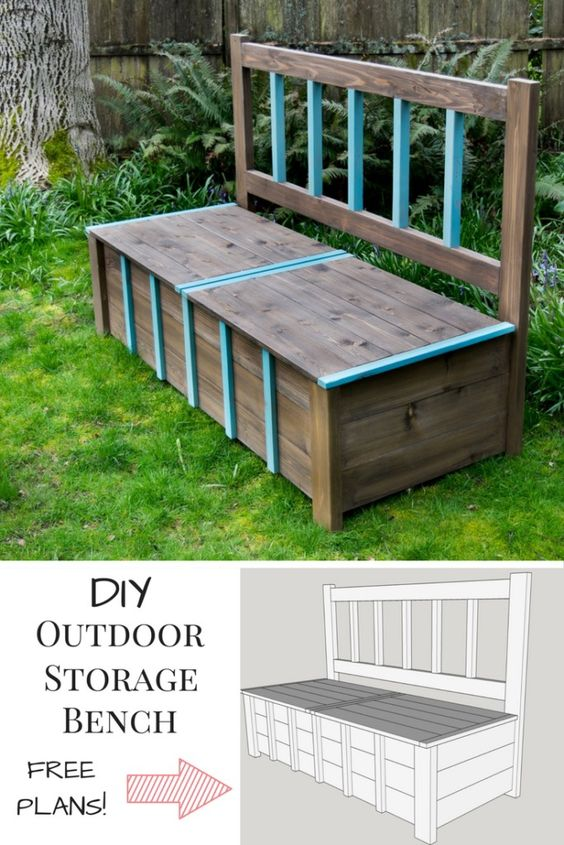 DIY Storage Bench.