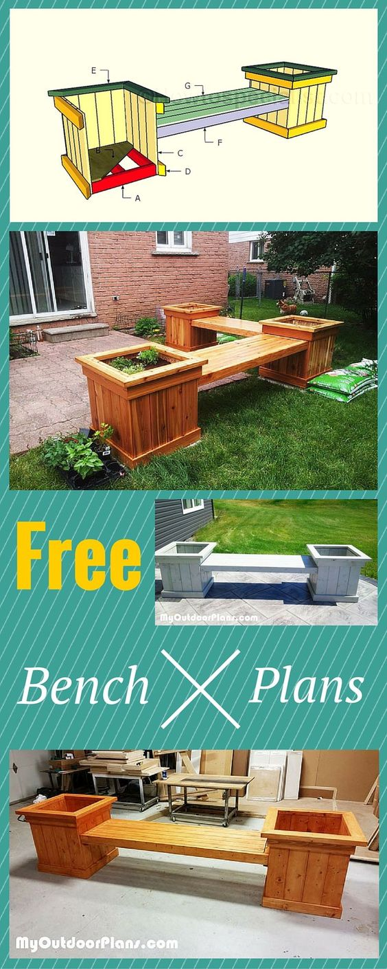 DIY Planter Bench.