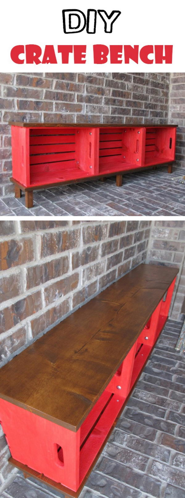 DIY Crate Bench.