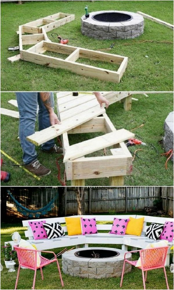 DIY Wood Pallet Garden Bench.