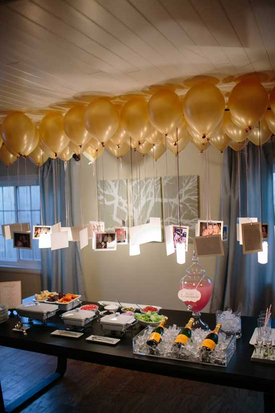 Floating Balloons with Photographs.