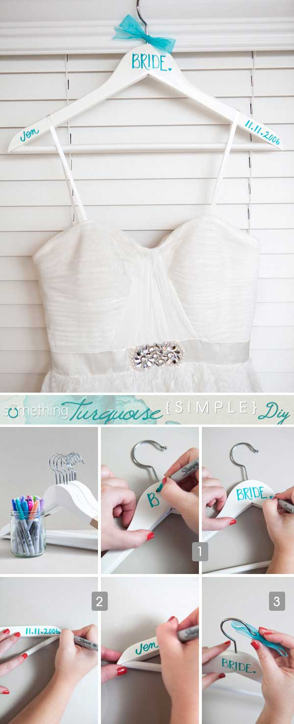 Create your very own, personalized wedding hangers.