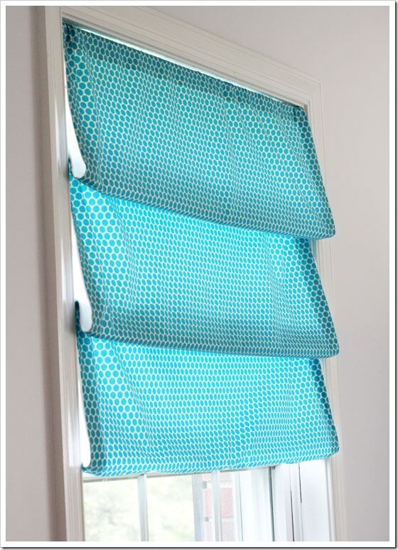 DIY No Sew Window Treatment.