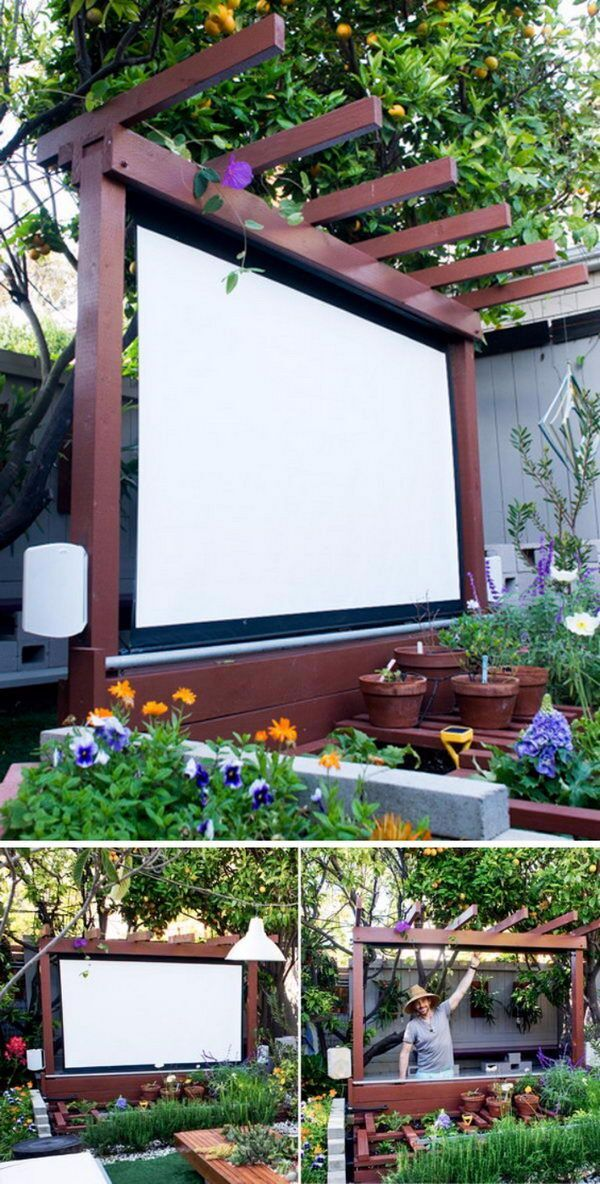 Build an Outdoor Theater in Your Yard.