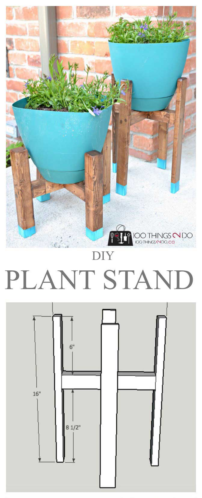 DIY Plant Stand Just For $5.