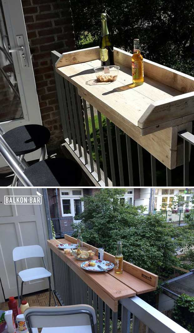 DIY Balcony Railing Bar.