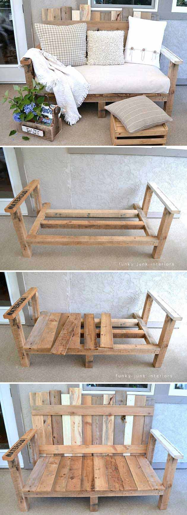 Pallet Wood Outdoor Sofa.