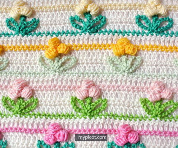16 crochet flower stitch patterns tutorials thumb