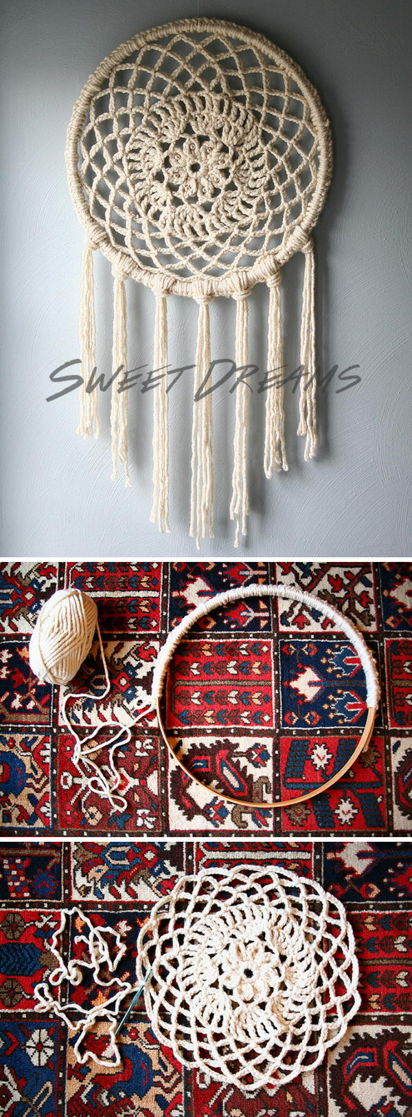 Crochet Big Dreams Dream Catcher.