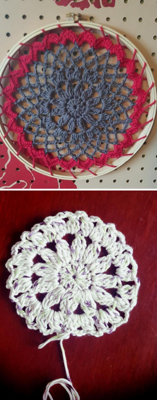 Crochet Doily Mandala Dreamcatcher.