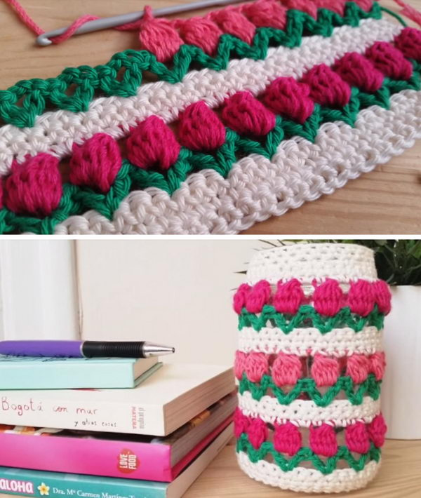 How To Crochet Tulip Stitch.