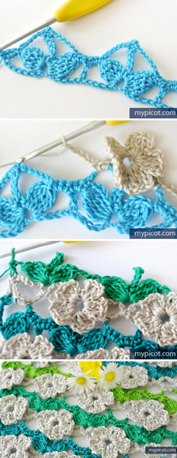 Crochet Wild Flower Stitch.
