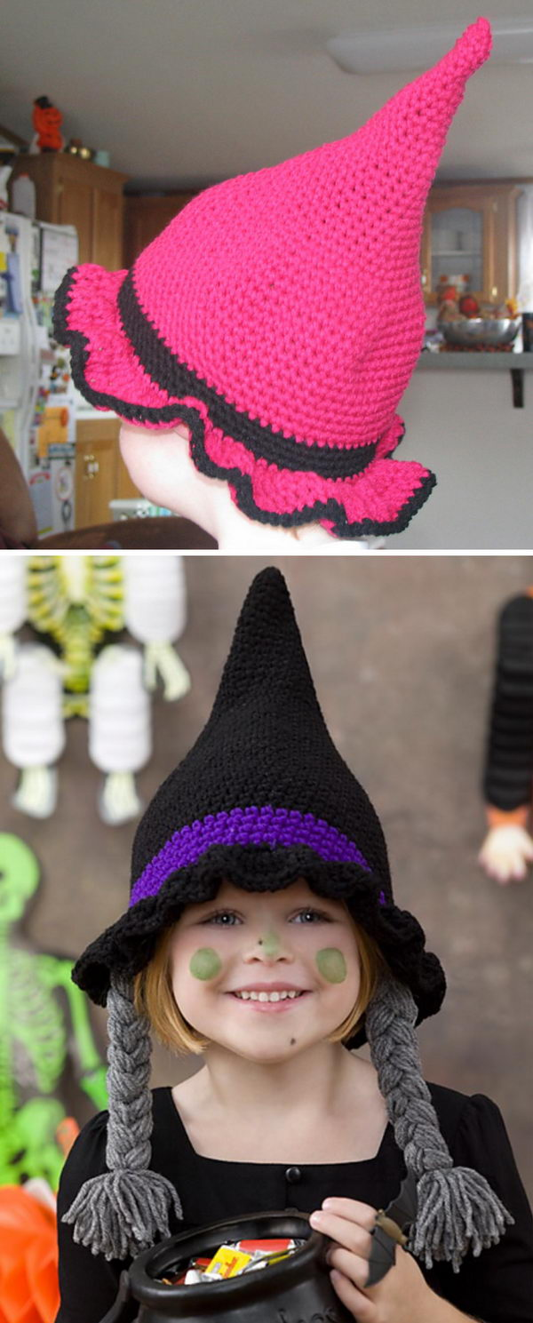 Crochet Witch Hats.