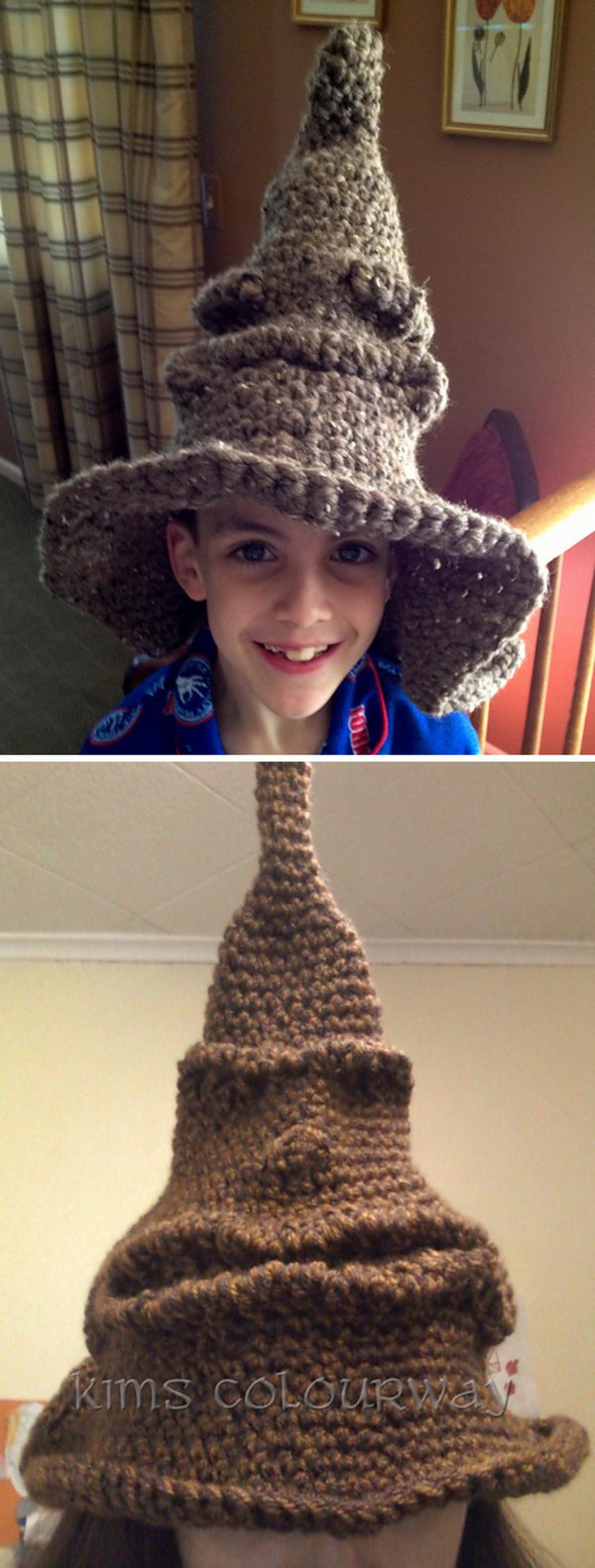 Crochet Harry Potter Sorting Hat.