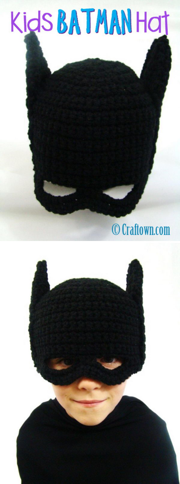 Crochet Batman Hat.