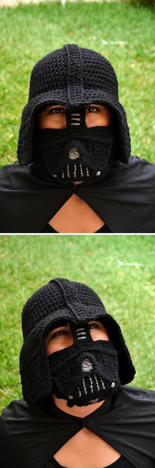 Crochet Darth Vader Hat.