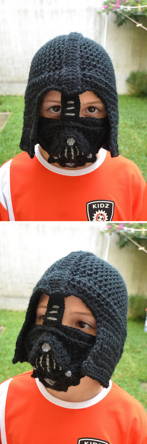 Crochet Kids Darth Vader Hat.