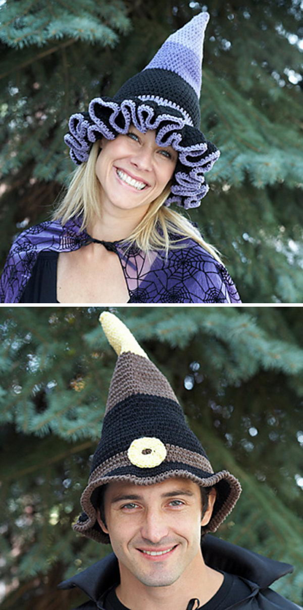 Crochet Witch Or Wizard Hats.
