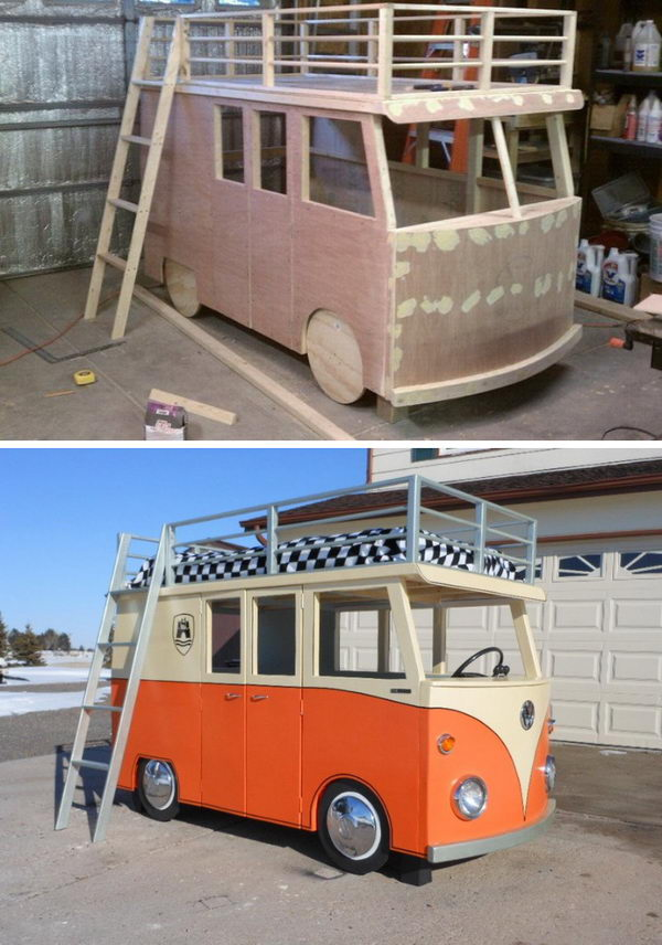 VW Bus Bunk Beds.