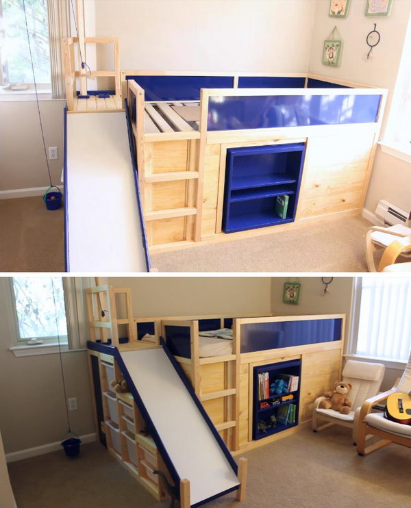 Side Slide Bed Playhouse.