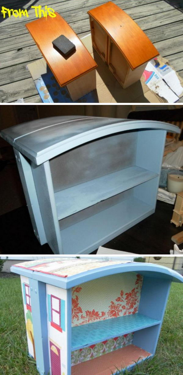 DIY Old Drawer Doll House.