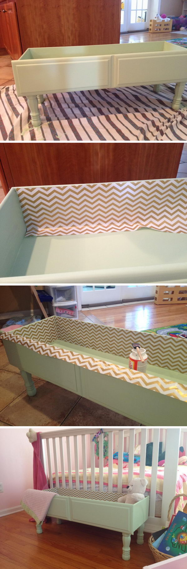 DIY Repurposed Drawer Storage Box.